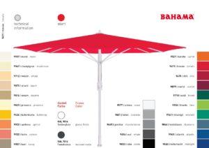 BAHAMA GROSS Schirm Bespannungsfarben